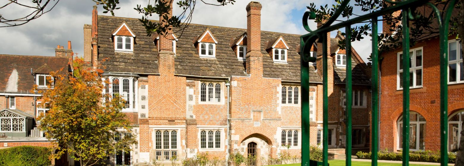 The Old Tudor Building and the Headmaster's Lawn